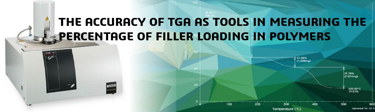 THE ACCURACY OF TGA AS TOOLS IN MEASURING THE PERCENTAGE OF FILLER LOADING IN POLYMERS